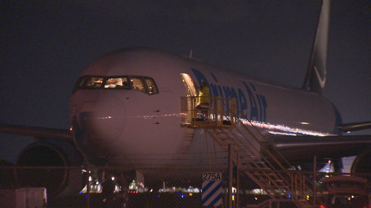 A cargo plane was diverted to Honolulu after declaring an in-flight emergency.