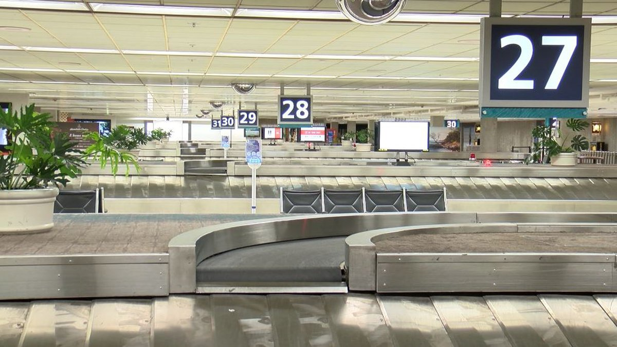 Baggage claims were at a standstill Thursday due to a significant reduction of incoming flights.