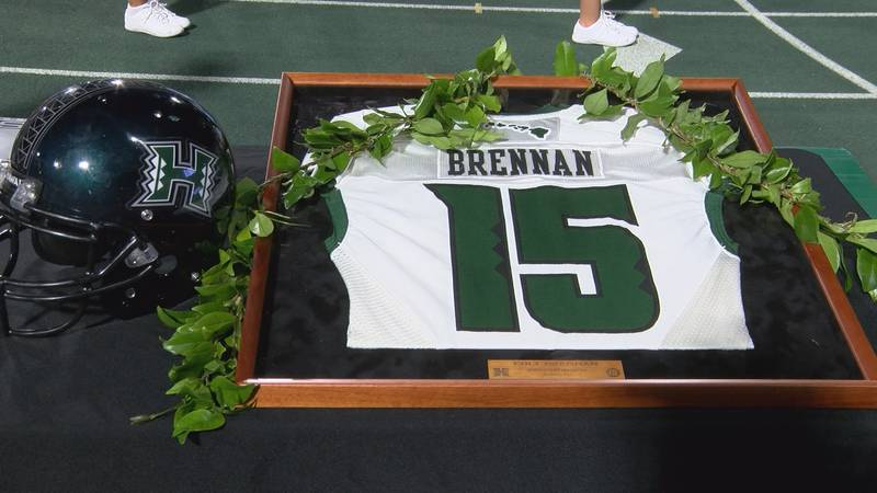 The University of Hawaii Rainbow Warriors football team downed New Mexico State for the second...