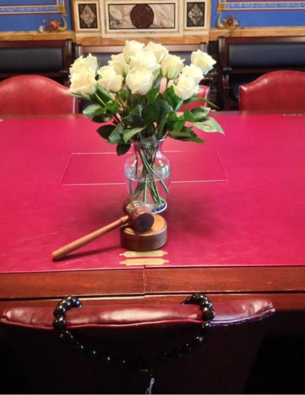 Sen. Inouye's office the day after his passing