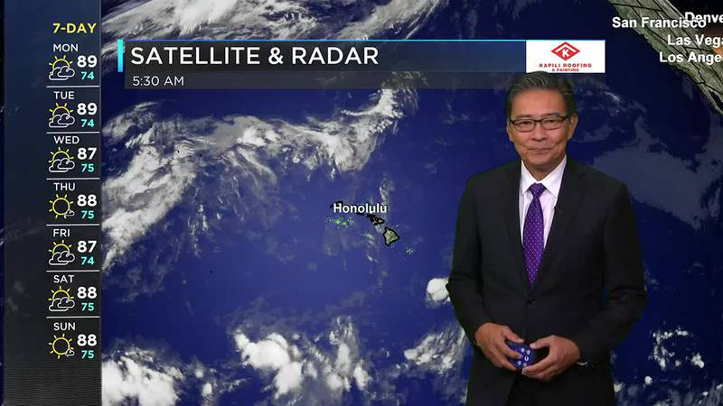 Morning Weather Forecast from Hawaii News Now - Monday, September 20, 2021