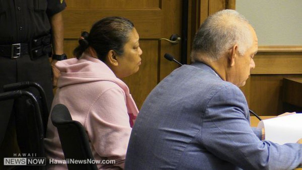 File image of Jaylin Kema in court (Image: Hawaii News Now/file)