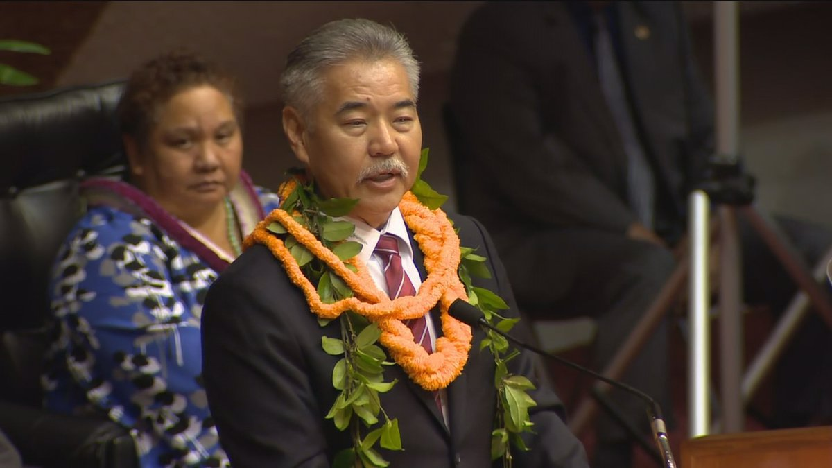 Gov. David Ige presented his State of the State address Tuesday before Hawaii lawmakers....
