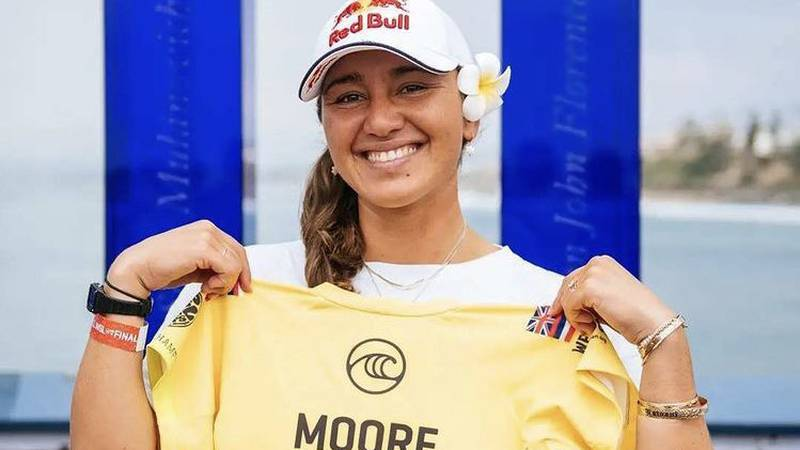 Carissa Moore's historic year continues.