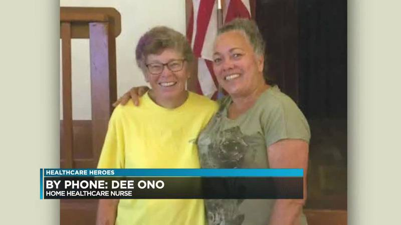 """All this week we'll be honoring """"Healthcare Heroes,"""" including home health care nurse Dee Ono..."""