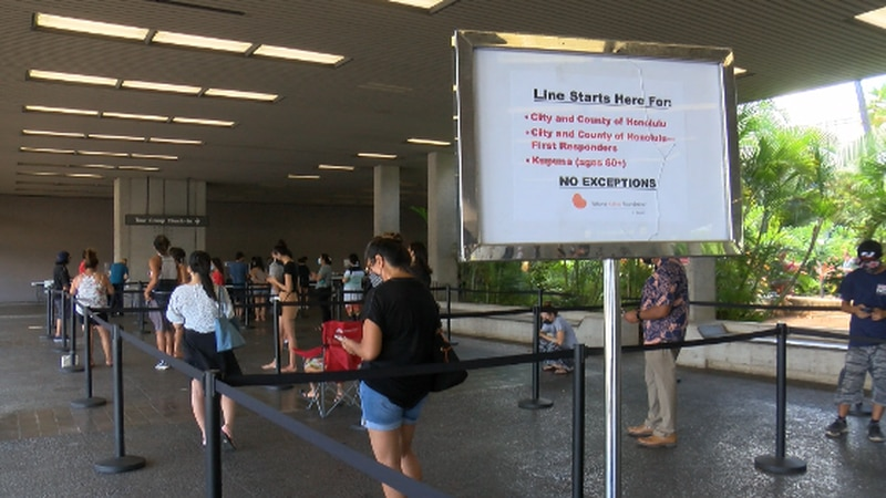 Kelsey Kohagura, project director of Kidney Foundation Hawaii says it's about a two-hour wait...