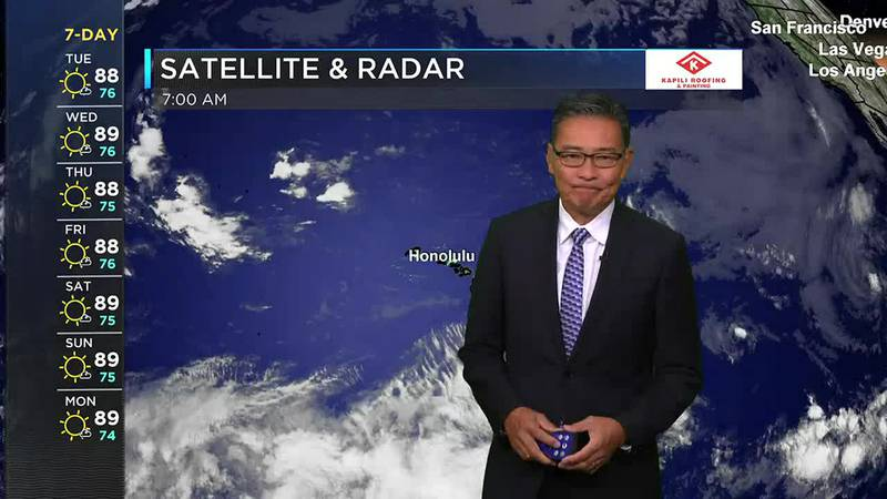 Morning Weather Forecast from Hawaii News Now - Tuesday, July 20, 2021