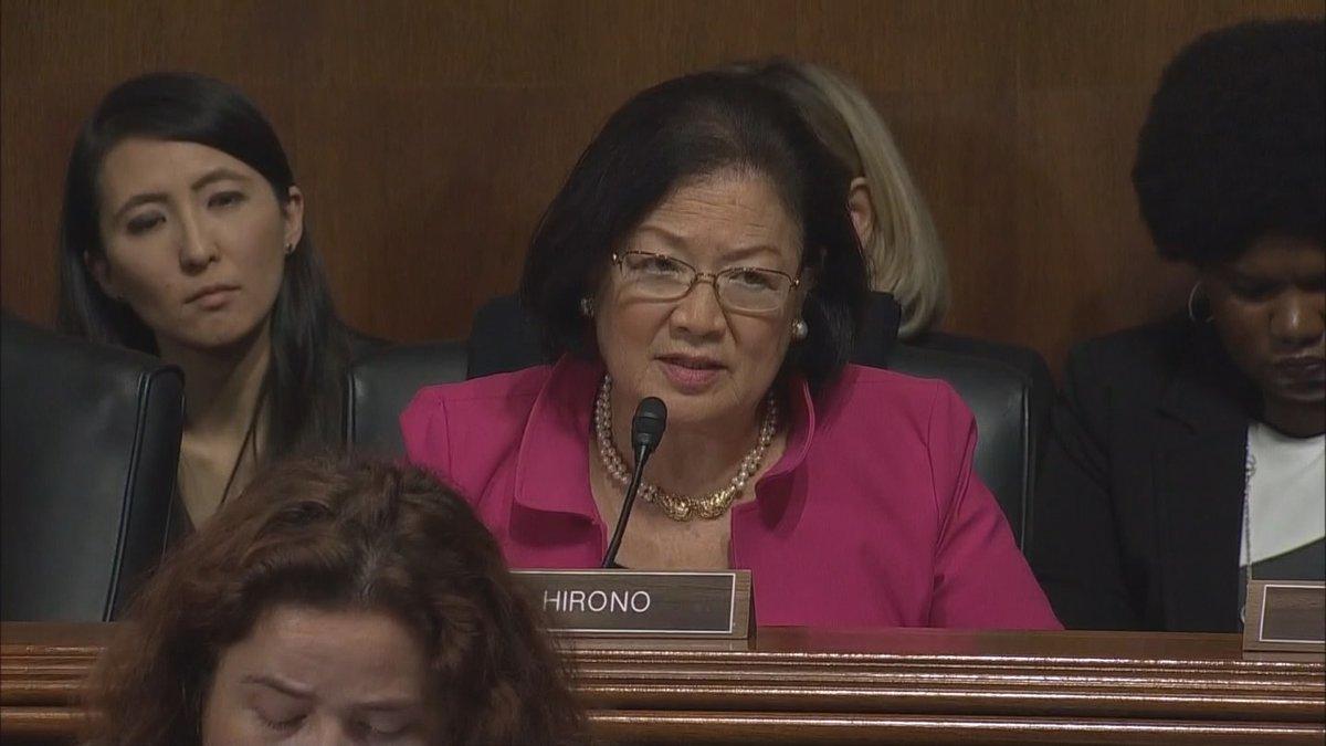 Senator Mazie Hirono (D-HAWAII) questioned Supreme Court nominee Brett Kavanaugh at Thursday's...