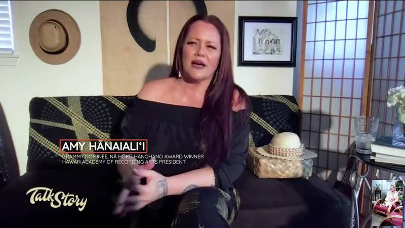 Amy Hānaialiʻi visits McKenna Maduli at the Talk Story Hale virtually from Maui to sing and...