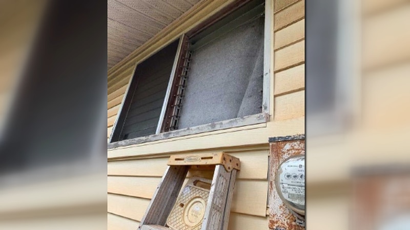 Dennis Kishi of Wahiawa says burglars broken into his home through a side window.