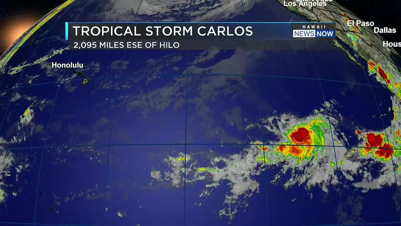 Carlos is the third named east Pacific system so far this season.