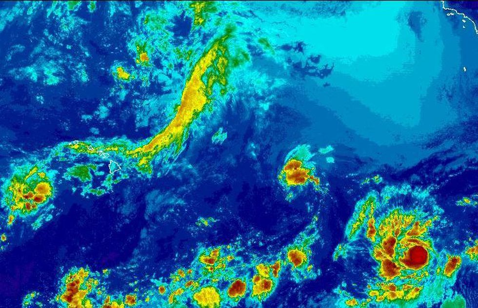 A new tropical storm has formed in the East Pacific and is moving westward (Image: NOAA)