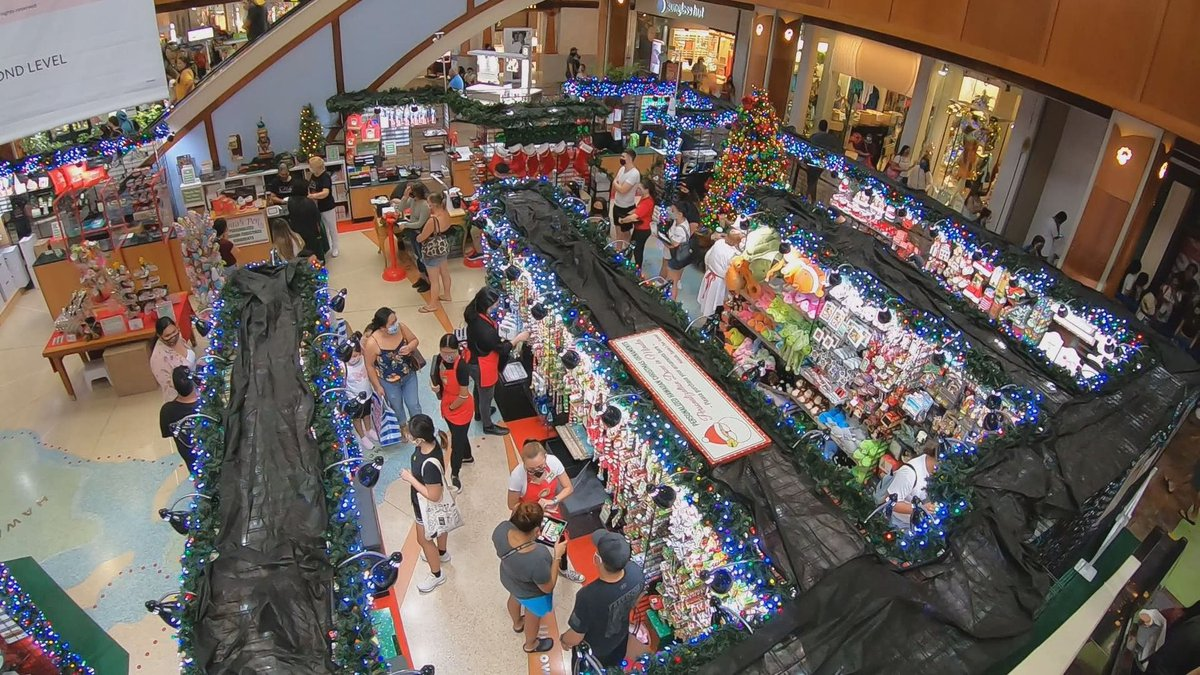 Large crowds were observed at shopping centers across the state on Friday.