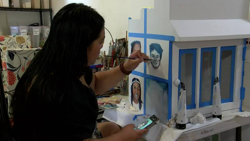 Artist Dannah Mari Hidalgo is used to producing big pieces.