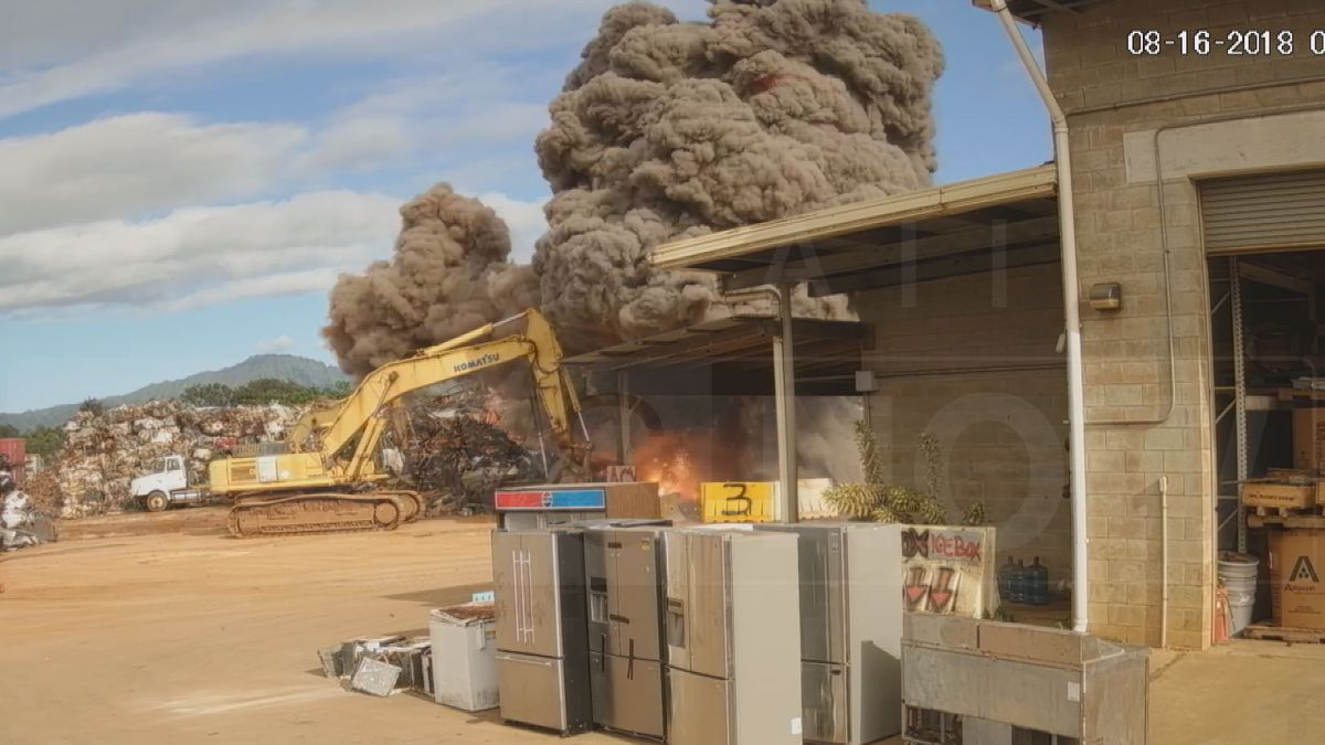 The large explosion caused severe burns on an excavator operator working at the time of the...