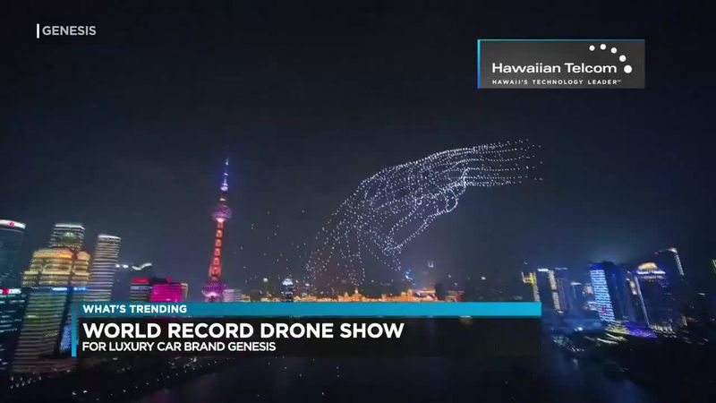 What's Trending: World record drone show
