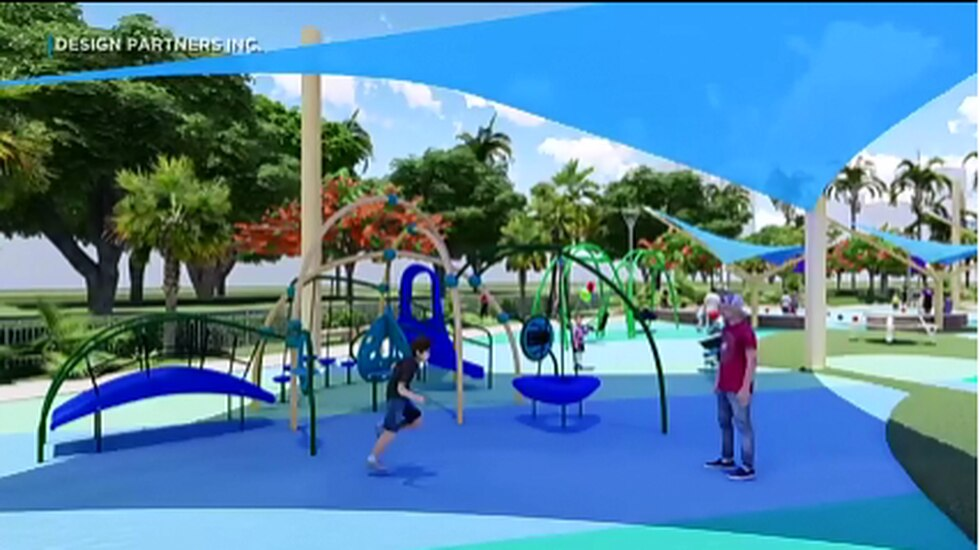 The 1-acre playground will be Honolulu's first that's specially designed for children with...