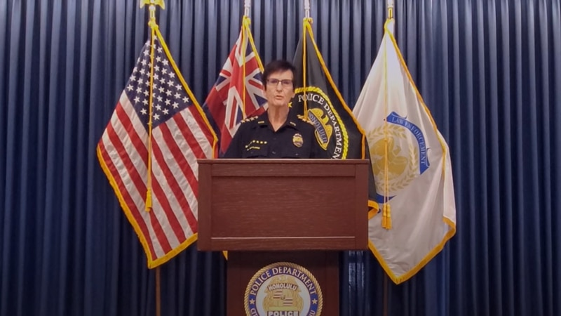 Honolulu Police Chief Susan Ballard announces resignation in a video posted on social media.