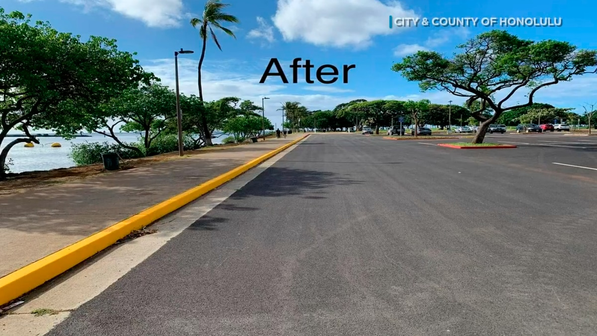 The city provided image of the redone parking lot.