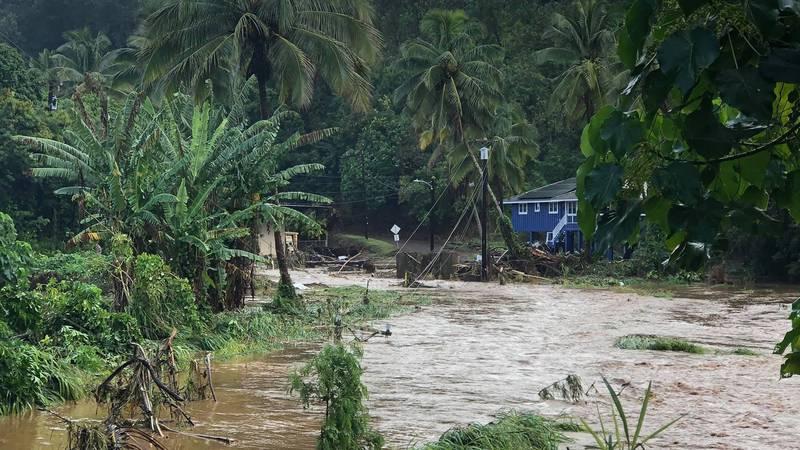 Parts of Kauai underwater after overnight rain causes massive flooding
