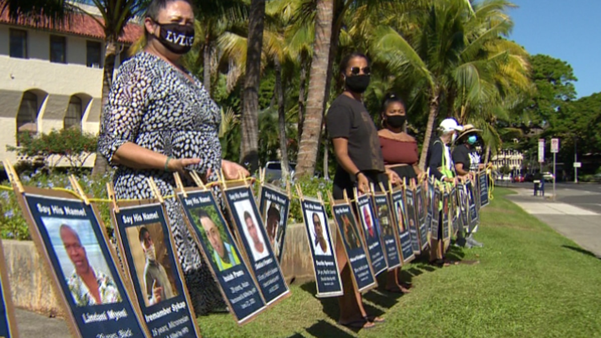 Dozens of people showed up for a rally protesting the police shootings of Iremamber Sykap and...