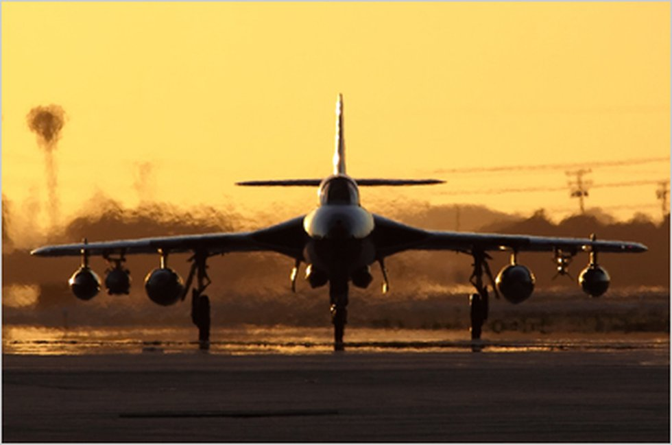 This undated image shows a Hawker Hunter aircraft before takeoff. (Image: ATAC)