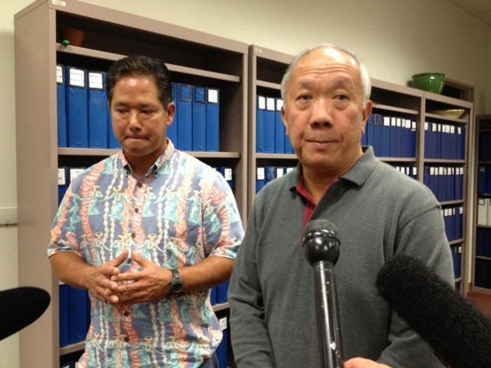 State Rep. Marcus Oshiro and House Speaker Calvin Say