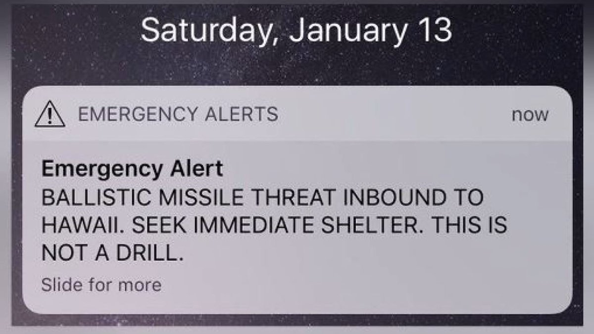 On the morning of Jan. 13, thousands in Hawaii got an emergency warning on cell phones and on...