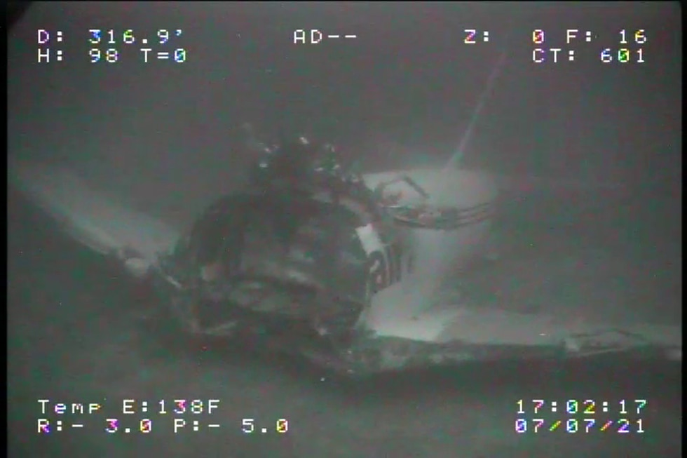 The NTSB has released images of a cargo plane that ditched off Oahu.