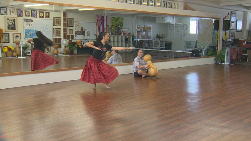 Crishelle Kaleiohoku Young's love for hula started even before she was born.