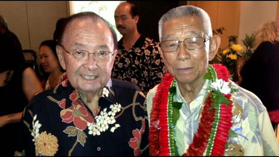 "Senator Daniel K. Inouye & Fujio ""Fudge"" Matsuda"
