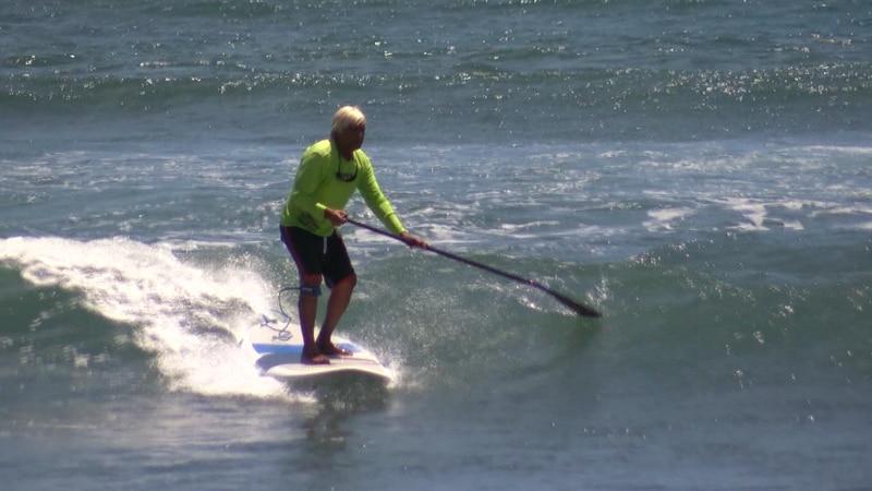 Many Maui families enjoyed the surf.