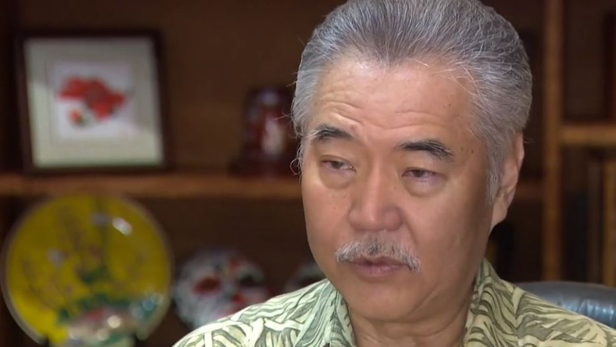 Gov. David Ige said his mom is at a nursing home that's seen COVID-19 cases.