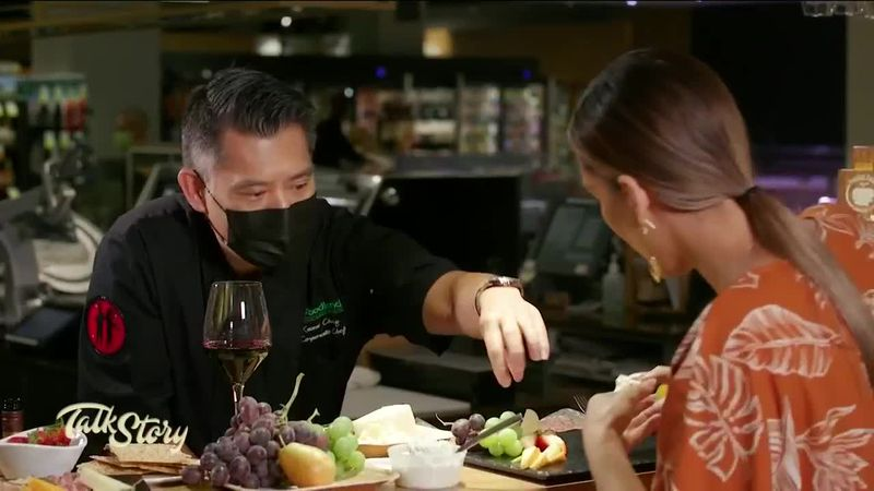 McKenna creates the perfect charcuterie board with Chef Keoni Chang on Talk Story