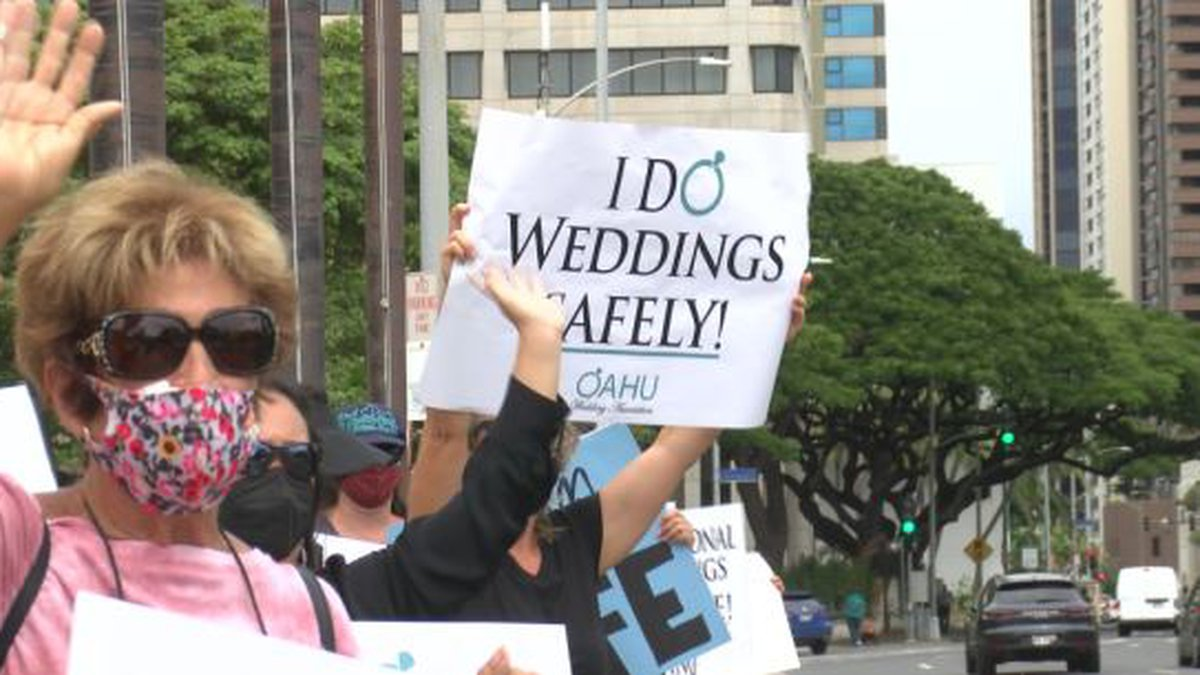 Organizers are calling on the government to give the OK for professionally-planned weddings.