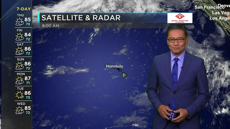 Morning Weather Forecast from Hawaii News Now Thursday, May 27, 2021