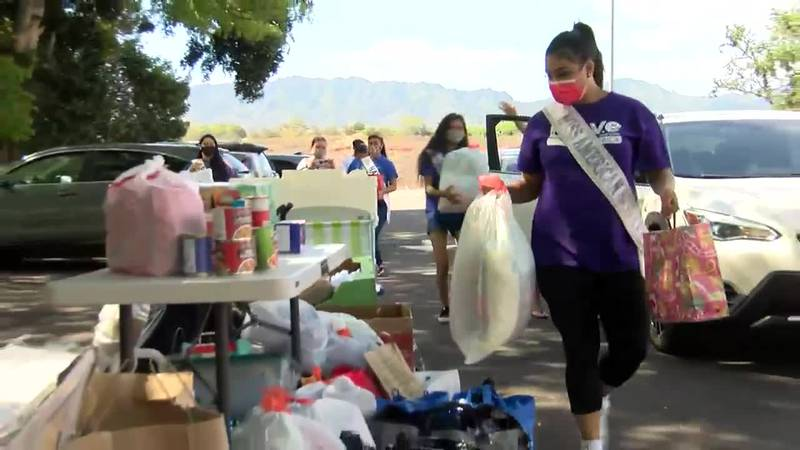 The items collected will help families transitioning to permanent, more dependable housing.