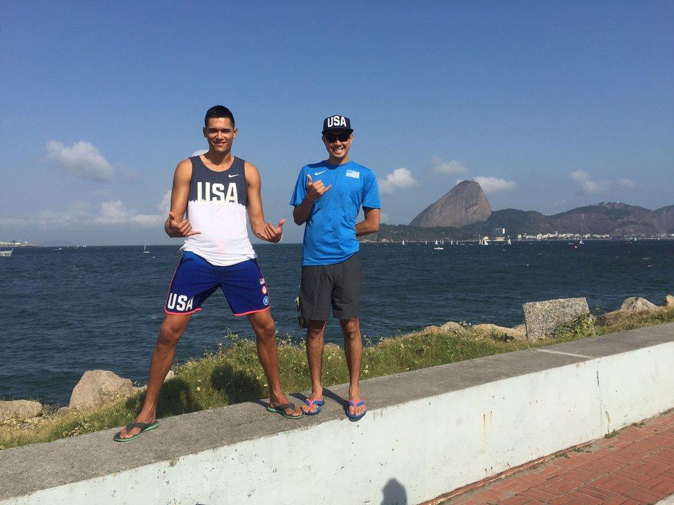 Micah Christenson and Erik Shoji sightsee in Rio