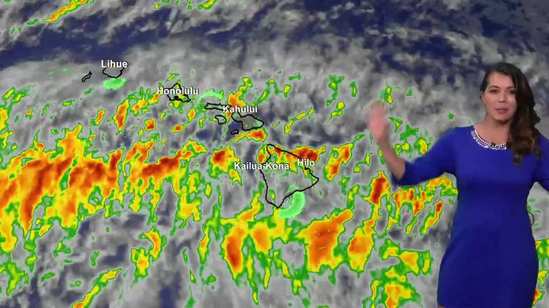 Tracking trade winds and some showers