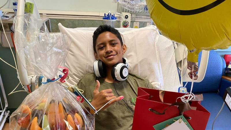 Jaden Ah Mow of Hilo is being treated on Oahu for a rare blood disease.