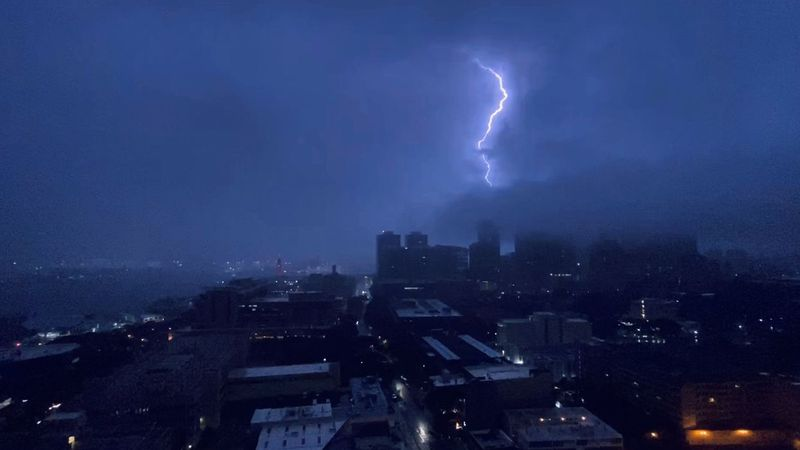 Severe weather hit Oahu on Friday morning.
