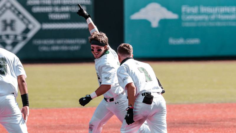 After severe rain forced game one between the two UH's to be canceled, UH-Manoa would sweep...