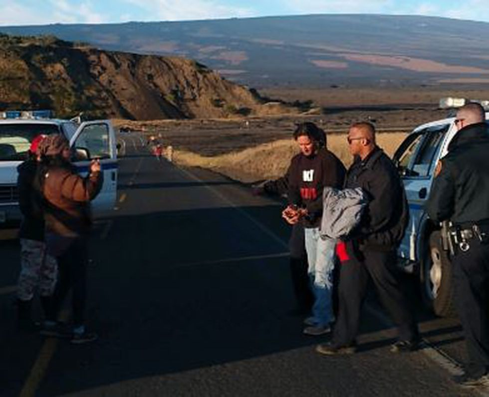 Officers arrested Kahookahi Kanuha on Thursday morning atop Mauna Kea in an apparent sign that...