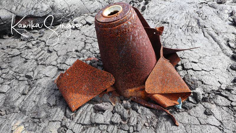 Kawika Singson says he was walking through an old lava field, miles from the roadway, when he...