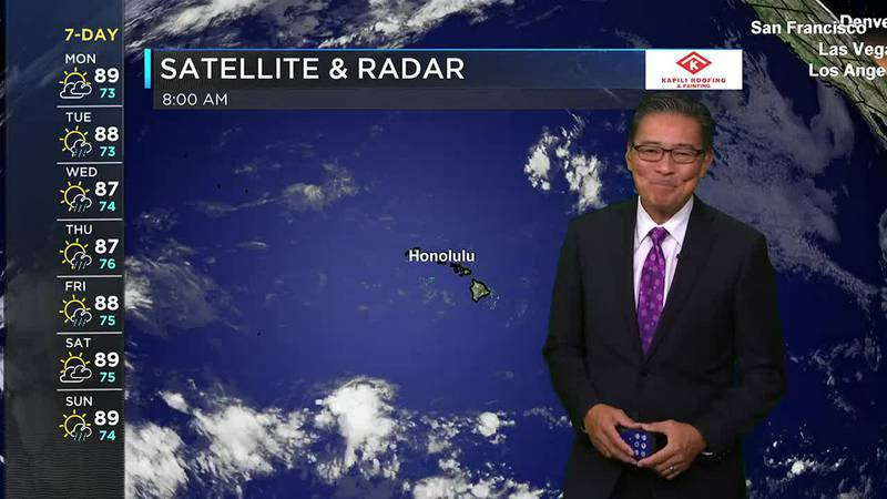 Morning Weather Forecast from Hawaii News Now - Monday, September 13, 2021