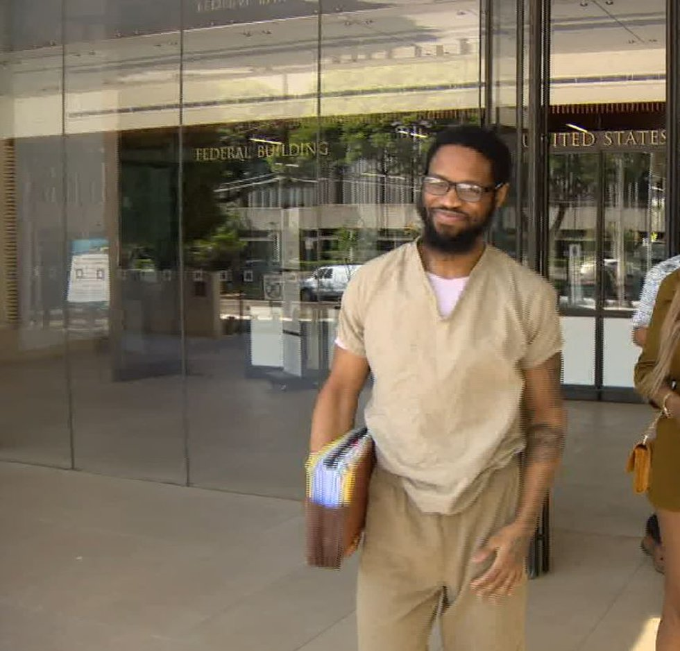 Isaiah McCoy after federal charges of trafficking were dropped in Nov. 2018