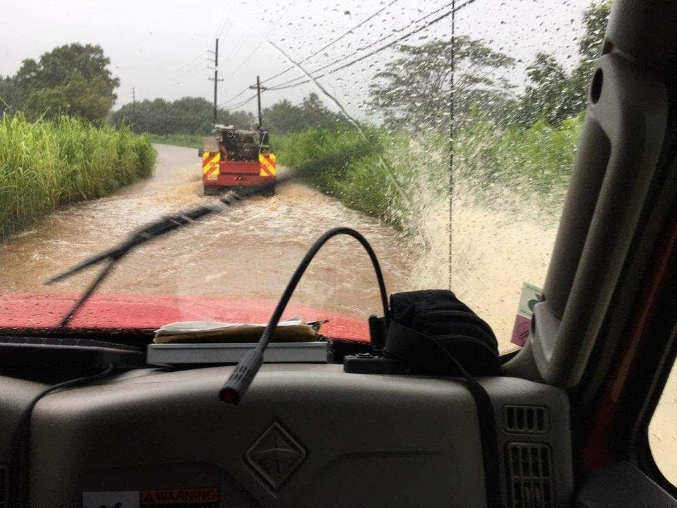 Several parts of Kuhio Highway remain closed due to heavy rains and flooding on the Garden...