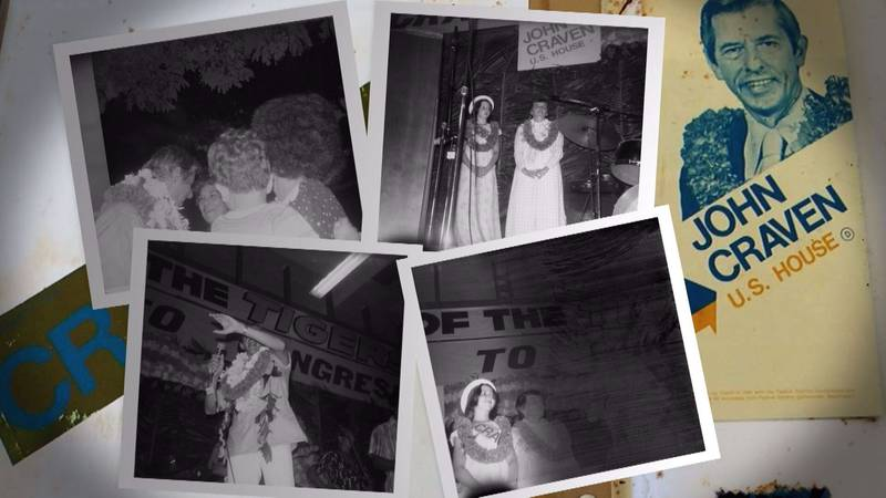 The photos were taken in Hawaii in 1976 at a political rally at McKinley High School for John...