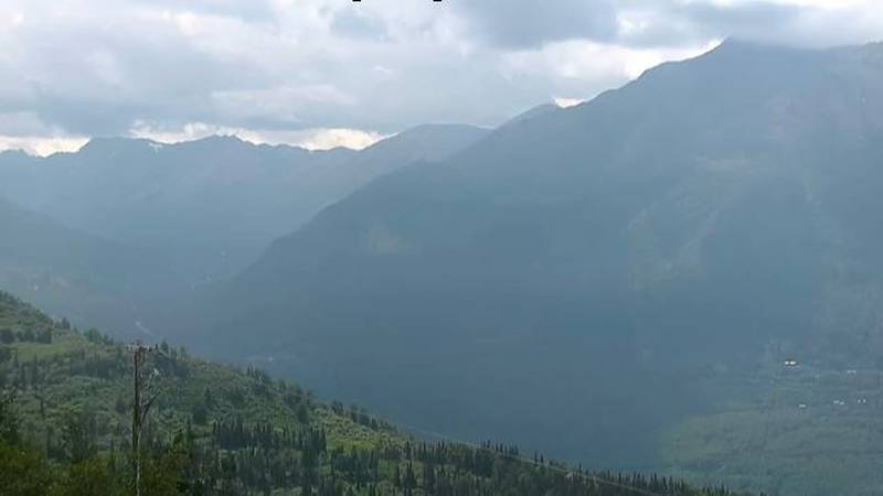 The plane went down in the steep, mountainous area of Eagle River Valley, Alaska.