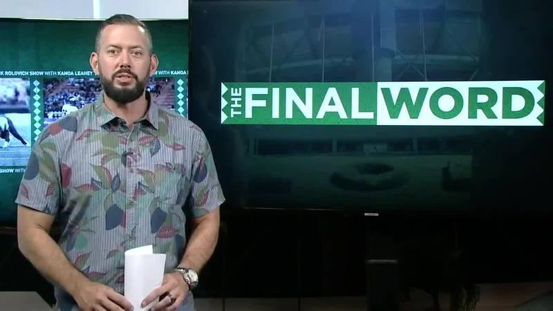 Kanoa Leahey in the Hawaii News Now studio.